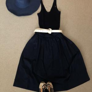 たまには可愛めにスカートと帽子で危険な暑さ