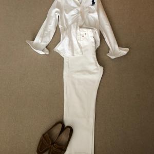 白シャツを使って全身白で20cmバッサリ
