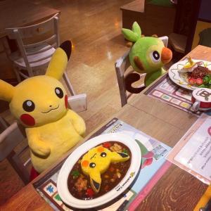 待望のポケモンカフェでお祝い