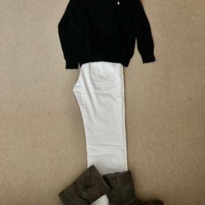 冬のホワイトジーンズでもうグッタリ