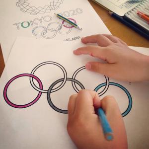 頑張れ…我が家のオリンピック応援
