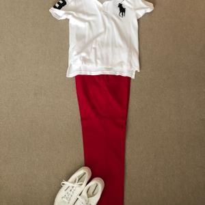 ZARAのパンツでめでたく紅白でお休み