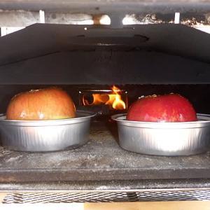 【週末は自宅の車庫前でポータブルピザ窯を使って『焼きリンゴ』 Vol.0 ~速報編~】