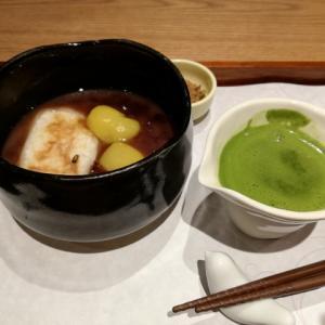 抹茶とコラボで新感覚!!焼きもち栗ぜんざい @tsumugi ツムギジョイナス横浜店