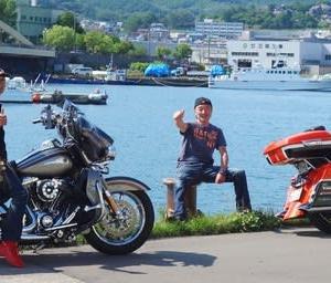 夏休み~AM自転車で夕張~ラーメン大鵬100km走、PMハーレーで小樽栗原蒲鉾買い出しツーリング