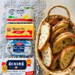 「窯焼きパスコ 国産小麦のバゲット」でバターの食べ比べ