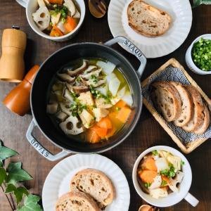 窯焼きパスコ 国産小麦のカンパーニュくるみレーズンと根菜のオリーブオイル煮