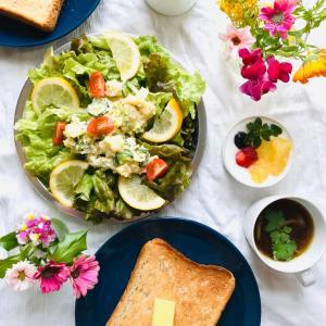 ポテトサラダのレシピとお庭づくり