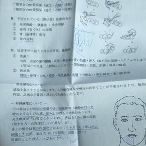 親知らず抜歯当日(記録)