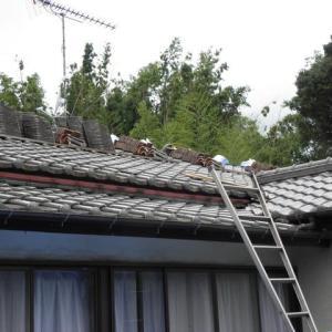 屋根工事が始まった