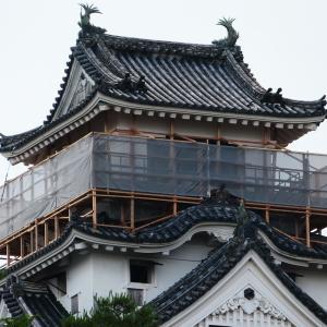 高知城天守高欄塗装改修工事