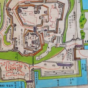 藩政時代の高知城の絵図