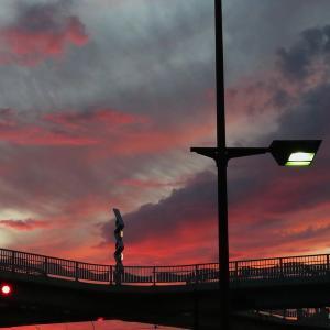 土佐道路から見た夕焼け