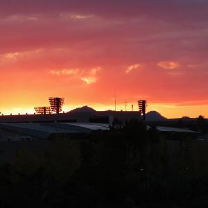 天神大橋付近から見た夕焼け