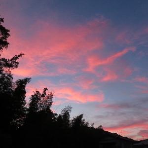朝倉神社付近からの夕焼け