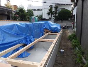 富田橋新築建売一戸建 いよいよ 上棟式です
