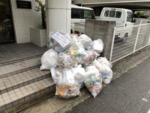 休日も待ってはくれないプラスチックゴミの日