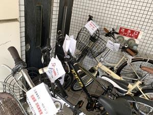 管理マンションの自転車整理