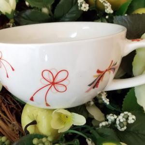 縁起の良いスープカップ♪・:*+.\♬アトリエ Pinot・Noir(ピノ・ ノ ワール)