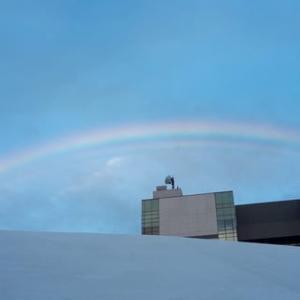 今日きれいな虹を見ました。