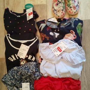 H&M セール品 小学生娘の服まとめ買い