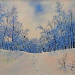 「雪の花咲く時」油彩画F10