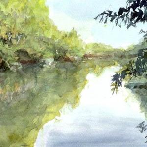 震生湖 静まる