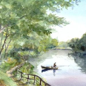 震生湖 湖上の幻影