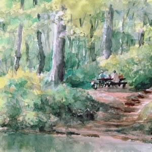 湖畔の憩い