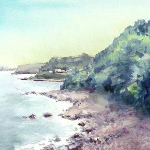 根府川の海