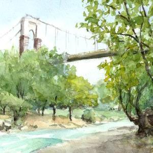 頭上の吊り橋