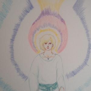 守護天使の絵、旅立ちました。