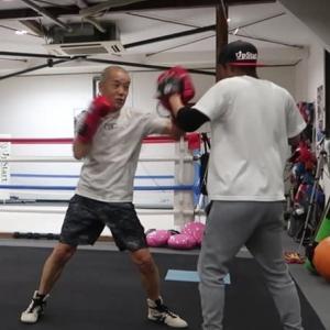 あしたのジャッキー(左フック編) Jackie training left hook which is KO punch