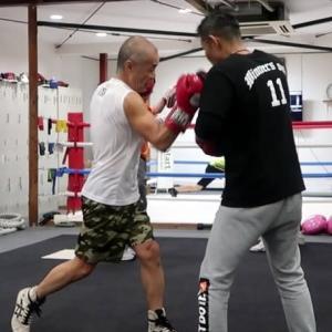 あしたのジャッキー(右アッパー編) Jackie first boxing training in 2020