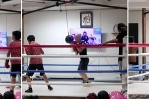あしたのジャッキー(ウィービング編) practiced weaving of boxing this week