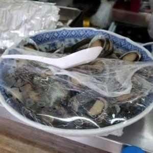 マルシンで朝食を(トコブシ編) enjoyed boiled small abalone