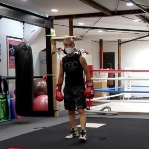 あしたのジャッキー(マスク着用編) hard to practice boxing wearing mask