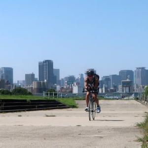 ジャッキーのバイクライディング Act. 30 bike riding along the Yodo river Act. 30