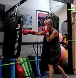 あしたのジャッキー(膝上げからサンドバッグ編) boxing working out this week