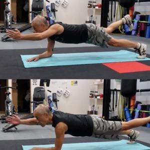 あしたのジャッキー(プランク編) plank is good for your trunk and abdominal muscle