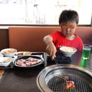 息子の焼肉の付き添い