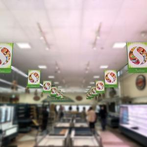 【スーパーマーケット様|サイン修繕/店内装飾】