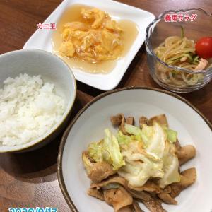 9月17日(木)の夕飯