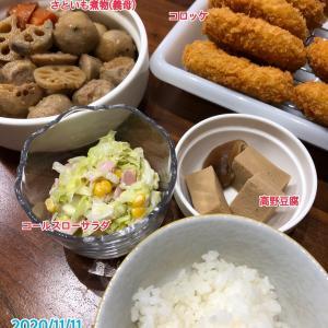 11月11日(水)の夕飯