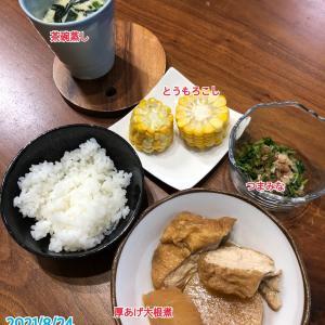 8月24日(火)の夕飯