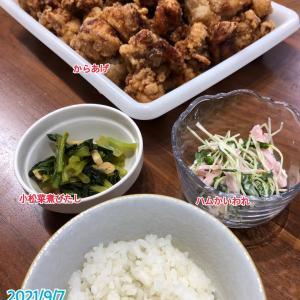 9月7日(火)の夕飯