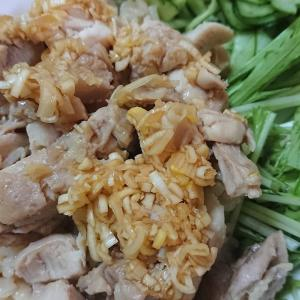 カオマンガイ、金平ゴボウ、梅大根サラダ♪~11月7日(水)の夕飯とネコ~