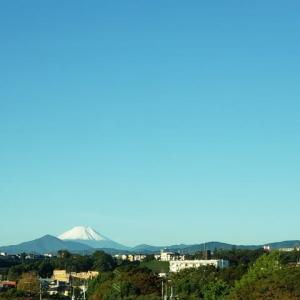 冠雪の富士山みっけ・・・10.23
