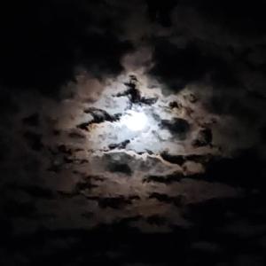 深夜の空に