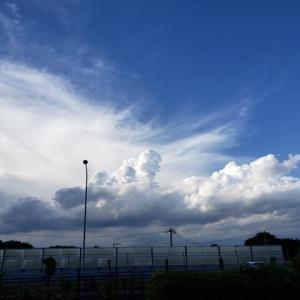 猛暑日の青空9.04